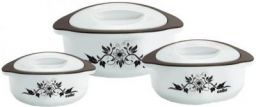 Cello Hot Meal Pack of 3 Thermoware Casserole Set