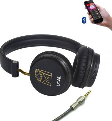 boAt Rockerz 400 Mumbai Indians Edition Bluetooth Headset with Mic
