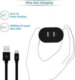 Flipkart Smartbuy Duo 3.4A Dual Port Charger with Fast Charge Cable