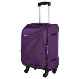 Safari Mimik 55 Cms Polyester Purple Cabin 4 wheels Hard Suitcase