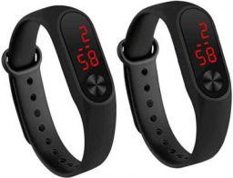 Nester Smart Black Digital LED Band Watch-N-Mi2-2 pic Digital Watch  - For Boys