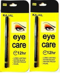 Glamzone Eye Care Kajal Long Lasting Extra Black Waterproof