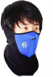 Bike World Blue, Black Bike Face Mask for Men & Women