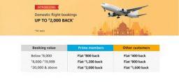 Flights on Amazon: Launch offer