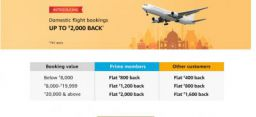 Amazon Pay: Flights Booking Launch offer