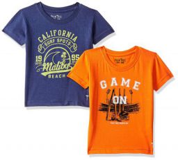 PalmTree Baby Boy Regular Fit T-Shirt (Pack of 2)