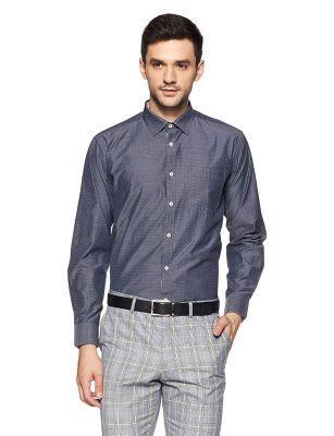 Amazon Brand - Symbol Men's Printed Regular Fit Formal Shirt