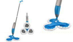 Jeval Hydro Triple Spray Mop/Spray Round Cleaning Mop Head