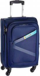 (Renewed) Safari Greater 58 Cms Polyester Blue Cabin 4 wheels Hard Suitcase