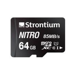 Strontium Nitro 64GB Micro SDXC Memory Card: Class 10