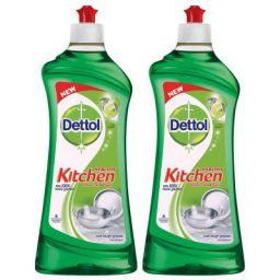 Dettol Kitchen Dish and Slab Gel Lime Splash - 750 ml (Pack of 2)