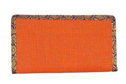 INDIJOY JUTE CLUTCH BAG/WALLET Gift For Girls/Women (Orange)