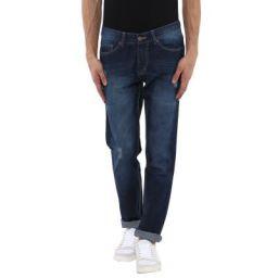 AMERICAN CREW Men's Dark Blue Straight Fit Jeans