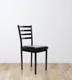 Streak Ladder Back Visitor Chair in Black Color By Furniease