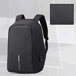 Fur Jaden Anti Theft Water Repellent 15.6 Inch Laptop Backpack with USB Charging Port