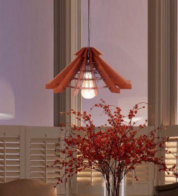 Brown MDF Hanging Light by Sehaz Artworks