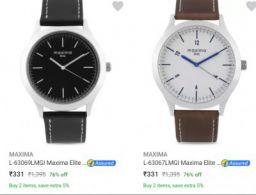 Maxima Men's Watch Upto 79% Off