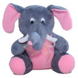 Amardeep and Co Fun Pillow - Elephant (Gray)