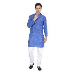 FOCIL Men's Cotton Kurta and Pyjama Set