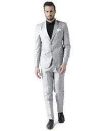 hangup Men's Coat Suit (Grey, 42) -2 Pieces: Amazon.in: Clothing & Accessories