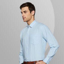 Symbol Mens Solid Regular Fit Formal Shirt