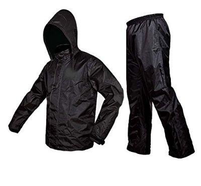 Zavia Premium Plain Rain Coat (Black)