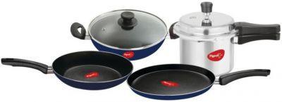 Pigeon Essentials Kitchen Pack Gift Cookware Set (Aluminium, 4 - Piece)