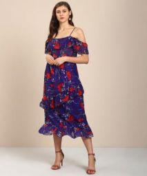 Trendyol Women Layered Purple Dress
