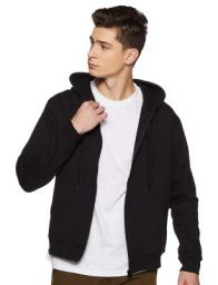 6 Degrees Men's Premium Rich Cotton Sweatshirt with Zip