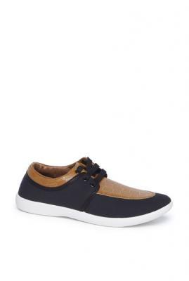 Zudio Tan Faux Leather Sneakers