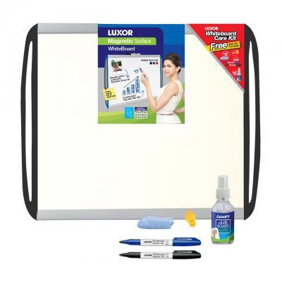 Luxor 1538 White Board Black - 45 cm X 60 cm with Accessory Pack