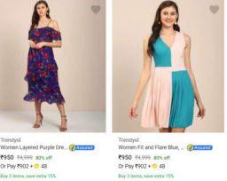Trendyol Dresses Flat 80% Off