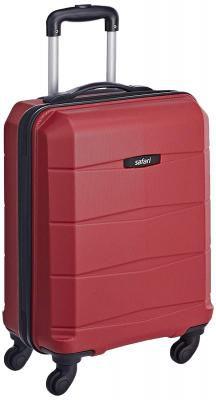 Safari Regloss Antiscratch 55 Cms Polycarbonate Red Cabin 4 wheels Hard Suitcase