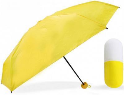 Poojara Unisex Ultra Mini UV Metal Made 4-Fold Travel Capsule umbrella Umbrella