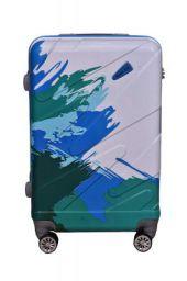 Swiss Era Sheraaj Polycarbonate 8 Wheels 360 Degree Rotation Water Proof Luggage for Men and Women (Blue)
