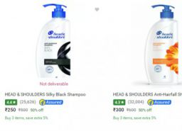 Head & Shoulders Shampoo Minimum 50% Off