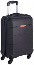Safari Regloss Antiscratch 55 Cms Polycarbonate Black Cabin 4 wheels Hard Suitcase