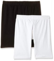 T T Women's Cotton Sports Shorts (Pack of 2)