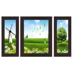 Wens 'Windmill Landscape.' Wall Art (MDF, 30 cm x 34 cm x 1.5 cm, WSP-4298)