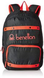 United Colors of Benetton 25 Ltrs Black Casual Backpack