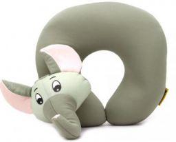 Travel Blue Elephant Fun Neck Pillow  (Grey)