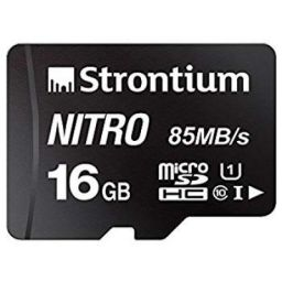 Strontium Nitro 16GB Micro SDHC Memory Card 85MB/s UHS-I U1 Class 10 High Speed for Smartphones Tablets Drones Action Ca