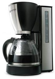 VITEK VT-1509 BK-I 870-Watt Coffee Maker (Black/Silver)