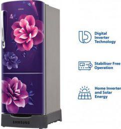 Samsung 192 L Direct Cool Single Door 4 Star Refrigerator with Base Drawer  (Camellia Purple, RR20R182YCR/HL)