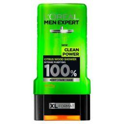 LOreal Paris Men Expert Clean Power Shower Gel, Citrus Wood, 300ml