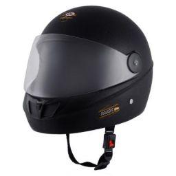 O2 Max DLX Full Face Helmet With Scratch Resistant Visor (Matte Black,M)
