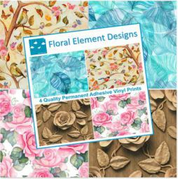 Printelligent Paisley Pattern Self Adhesive Craft Vinyl Sheets   4+1 Assorted Vinyl Pack for Cricut, Silhouette Cameo, C