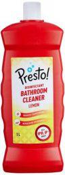 Amazon Brand - Presto! Disinfectant Bathroom Cleaner - 1 L (Lemon)