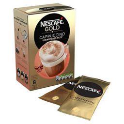NESCAFÉ GOLD Cappuccino Unsweetened Coffee, 8 Sachets