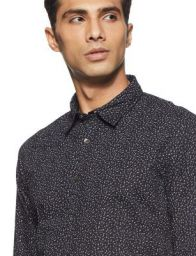 Beat London by Pepe Jeans Men's Checkered Slim Fit Casual Shirt